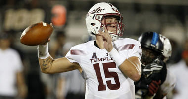 Temple Owls quarterback Anthony Russo throws a pass.