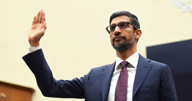 Sundar Pichai, CEO of Google, testifies before the House Judiciary Committee.