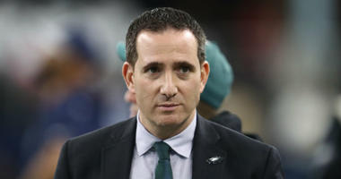Dec 9, 2018; Arlington, TX, USA; Philadelphia Eagles general manager Howie Roseman on the field prior to the game against the Dallas Cowboys at AT&T Stadium.