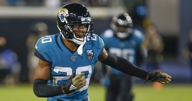 Jacksonville Jaguars cornerback Jalen Ramsey (20) runs a cover route during the second half against the Tennessee Titans at TIAA Bank Field.