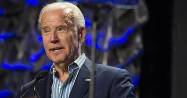 Former Vice President Joe Biden addressed a crowd at Saint Joseph's University.