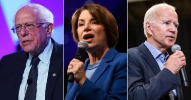 Bernie Sanders, Amy Klobuchar, Joe Biden