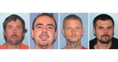 From left: Brynn Martin, Christopher Clemente, Troy McDaniel Jr. and Lawrence Lee III