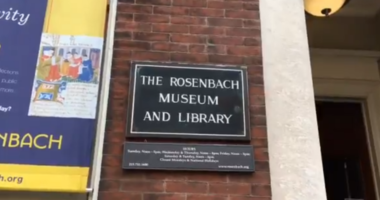 """The Rosenbach Museum on Delaney Street is hosted a special showing of their """"love letters"""" collection Thursday evening in honor of Valentine's Day."""