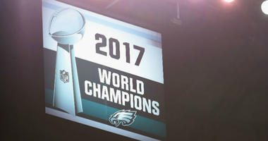 Philadelphia Eagles Super Bowl LII championship banner