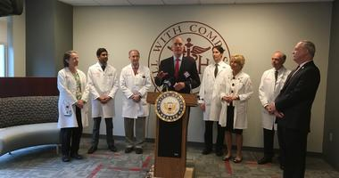 Sen. Bob Casey discussed Wills Eye Hospital's inpatient care.