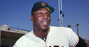 """In this April 1964 file photo, San Francisco Giants' Willie McCovey poses for a photo, date and location not known. McCovey, the sweet-swinging Hall of Famer nicknamed """"Stretch"""" for his 6-foot-4 height and those long arms, has died."""