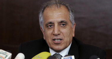 In this March 13, 2009, file photo, Zalmay Khalilzad, special adviser on reconciliation, speaks during a news conference in Kabul, Afghanistan.