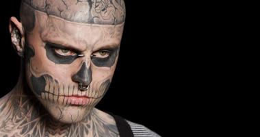 In this Saturday, June 4, 2011 file photo, Canadian model Rick Genest, aka Zombie Boy, appears on the runway during a fashion show in Rio de Janeiro, Brazil.