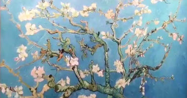 """A reproduction of """"Almond Blossoms"""" by Vincent van Gogh is part of a pop-up exhibition at King of Prussia Mall."""