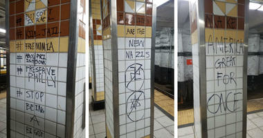 Anti-Israel graffiti was found at the Spring Garden SEPTA subway stop.