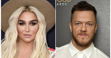 This combination photo shows musicians Kesha, left, and Dan Reynolds of Imagine Dragons.