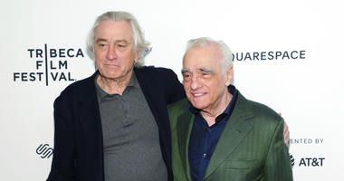 """Actor Robert De Niro, left, and director Martin Scorsese attend """"Tribeca Talks - Director Series - Martin Scorsese with Robert De Niro"""" during the 2019 Tribeca Film Festival at the Beacon Theatre on Sunday, April 28, 2019, in New York."""