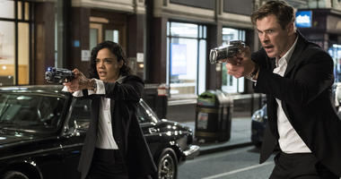 "This image released by Sony Pictures shows Tessa Thompson and Chris Hemsworth in a scene from Columbia Pictures' ""Men in Black: International."""