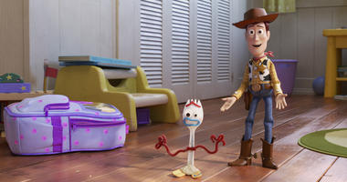 "This undated image provided by Disney/Pixar shows a scene from the movie ""Toy Story 4."""