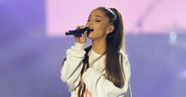 Ariana Grande performs at 'One Love Manchester' benefit concert.