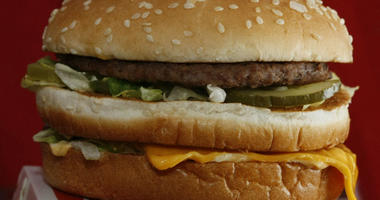 This Dec. 29, 2009 file photo shows a Big Mac hamburger at a McDonald's restaurant in North Huntingdon, Pa. The fast food restaurant is celebrating the sandwich's 50th anniversary in 2018.