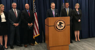 U.S. Attorney Bill McSwain announces indictments against three Chinese nationals in a drug trafficking ring.