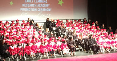 More than 100 Camden children graduated from a pre-K program at formal ceremonies on the Rutgers-Camden campus Friday morning.