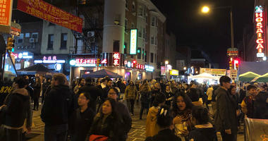Thousands showed up for a massive party in the streets Thursday for the Philadelphia Chinatown Development Corporation's 8th annual Chinatown Night Market.