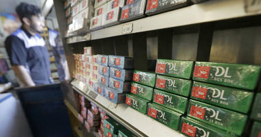 This May 17, 2018 file photo shows packs of menthol cigarettes and other tobacco products at a store in San Francisco.