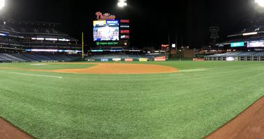Citizens Bank Park on a quiet Opening Day morning