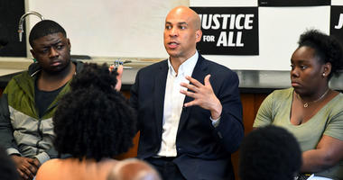 Democratic presidential candidate Sen. Cory Booker, D-N.J., speaks during a campaign stop on Friday, April 26, 2019, at Allen University in Columbia, S.C.