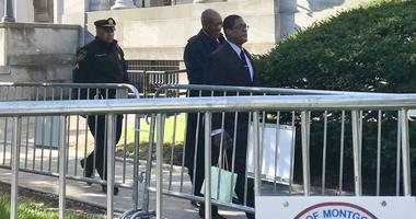 Bill Cosby is shown outside of the Montgomery County Courthouse