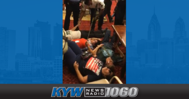 """Protesters disrupt Philadelphia City Council with a """"die-in"""" for more low-income housing."""