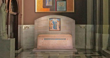 A conceptual view of the shrine for St. Katharine Drexel at the Cathedral Basilica of Saints Peter and Paul.