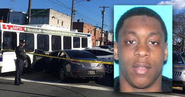Dejuan Robinson abandoned his vehicle near the intersection of Broad Street and Oregon Avenue in South Philadelphia after a chase by Wilmington police.