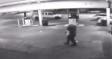 A screenshot from surveillance video shows a man was dragged by the neck, choked until he passed out and robbed early Tuesday morning in Juniata Park.
