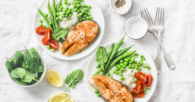 The Mediterranean diet encourages people to eat less meat and dairy.