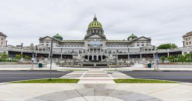 Capitol building in Downtown Harrisburg, pennsylvania.