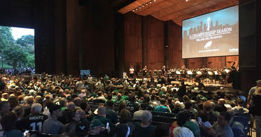 Packed house at the Mann Center for a special night featuring highlights from the Eagles' historic season with sounds by NFL Films and the Philadelphia Orchestra.