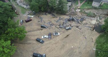 flooding in Ellicott City, Md.