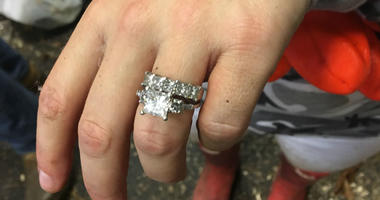 A Gladwyne woman who accidentally threw her wedding rings in the trash yesterday, now has them back.
