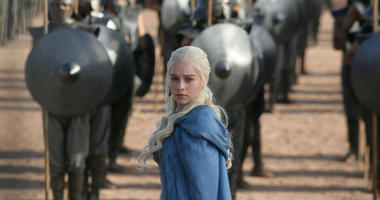 """This image released by HBO shows Emilia Clarke in a scene from """"Game of Thrones."""" The final season premieres on Sunday."""