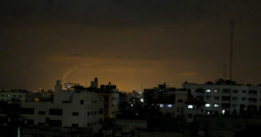 Smoke rises following an Israeli strikes on Gaza City