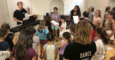 "Kids rehearse six hours a day for Music Theatre Philly's summer camp series production of ""Hamilton."""