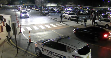 Police in Deptford Township are searching for four suspects after a parking lot argument turned into an all-out assault.