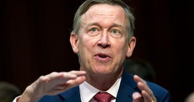 Colorado Governor John Hickenlooper speaks during a Senate hearing on Capitol Hill in Washington.