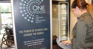 Doylestown Hospital offers free short stories from a dispenser.
