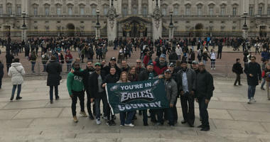 Eagles fans in London.