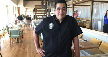 Chef Jose Garces in his Olon restaurant.