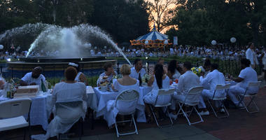 Diner en Blanc 2017 took place at Franklin Square.