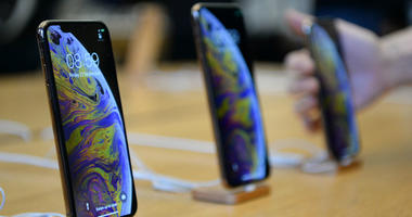 A display of the new iPhone XS and iPhone XS Max in the Apple Store in London.