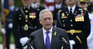 In this Sept. 21, 2018, file photo, Defense Secretary Jim Mattis speaks during the 2018 POW/MIA National Recognition Day Ceremony at the Pentagon.
