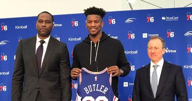 """The newest member of the Sixers """"Big 3,"""" Jimmy Butler"""