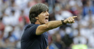 Germany head coach Joachim Loew shouts during the group F match between South Korea and Germany, at the 2018 soccer World Cup in the Kazan Arena in Kazan, Russia, Wednesday, June 27, 2018.